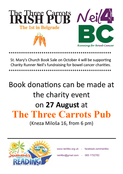 Book Donation @3 Carrots poster
