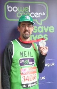 with London Marathon medal