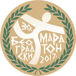 Belgrade Marathon 30th logo